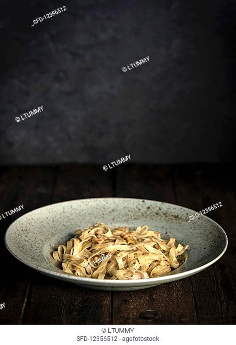 Tagliatelle with truffles and nuts