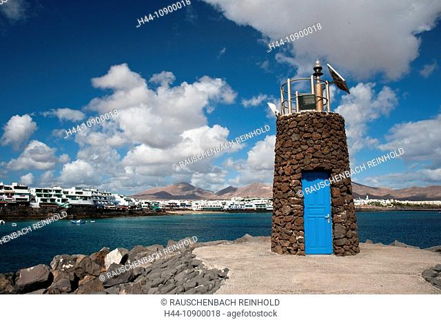 Playa Blanca, Spain, Europe, holidays, houses, homes, Canary islands, isle, coast, Lanzarote, lighthouse, vacation, ,world locations, Playa Blanca, Spanien
