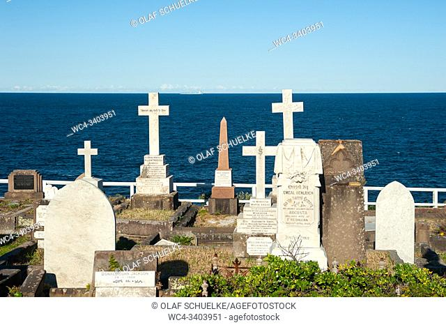 Sydney, New South Wales, Australia - Graves at Waverley Cemetery between Bronte and Clovelly along the Bondi to Coogee Walk