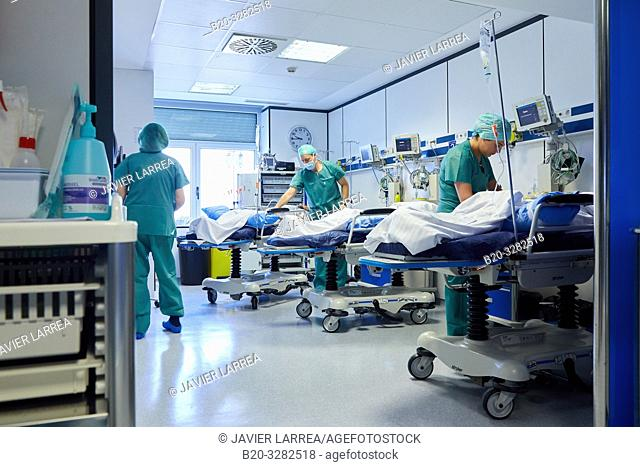 Preparation of patients, Operating theater of ophthalmology, Hospital Donostia, San Sebastian, Gipuzkoa, Basque Country, Spain