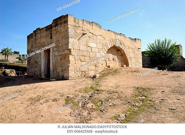 Interior Alcazaba Roman ruins, Merida, Spain