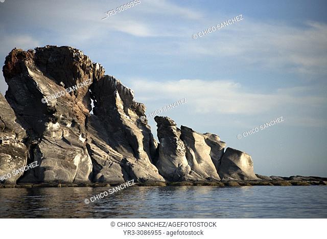 Rock formations in Cononado Island in Loreto Bay in Mexico's southern Baja California state, February 14, 2009