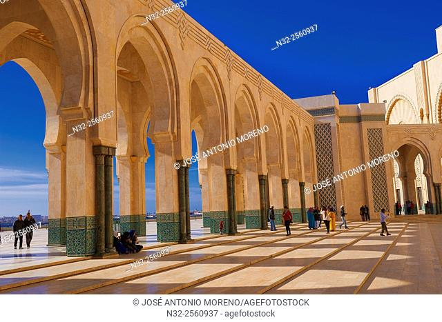 Casablanca, Hassan II Mosque, Sunset, Morocco, North Africa, Maghreb, Atlantic Coast