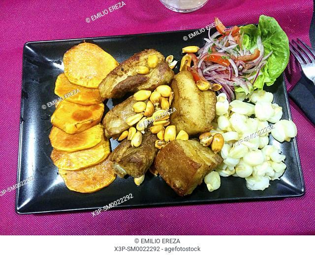Chicharrones. Peruvian dish