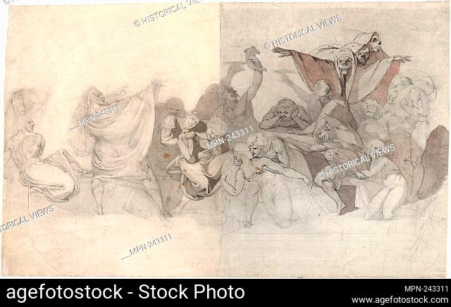 Triumph of Death: Three Skeletons Invading a Bacchanal Orchestrated by a Magician or an Evil Demon - 1770–71 - Henry Fuseli Swiss, active in England