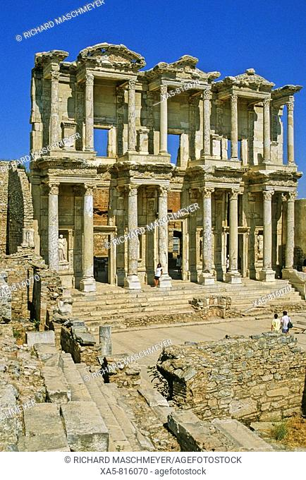 Turkey, Ephesus, the Library of Celsus