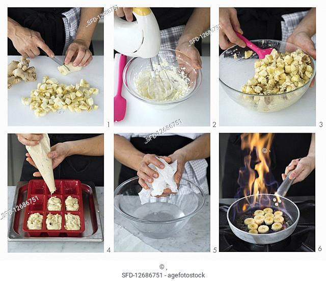 Make mini banana breads with walnuts