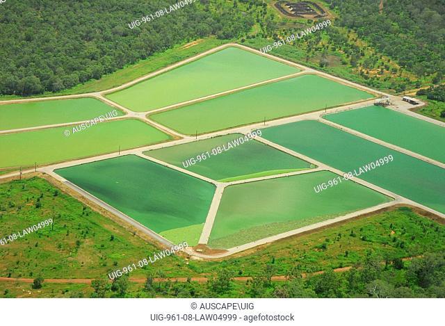 Sewage treatment ponds, Northern Territory, Australia