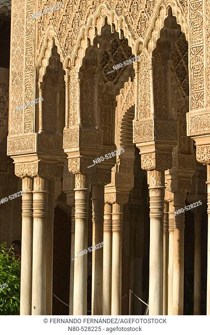 Court of the Lions, Alhambra. Granada. Andalusia, Spain
