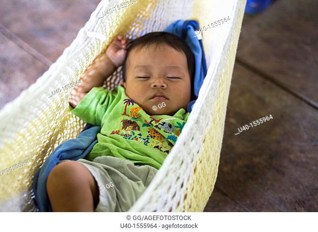 Baby Boy in hammock