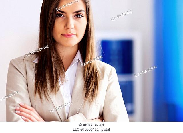 Portrait of beautiful businesswoman, Debica, Poland