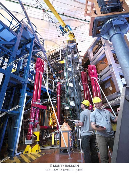 Scientists Working With Fusion Reactor