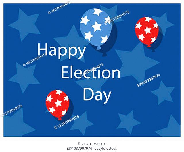 happy election day background Vector Illustration
