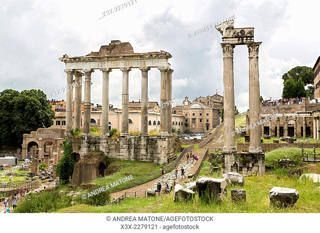 The Roman Forum view from above. Rome, Italy