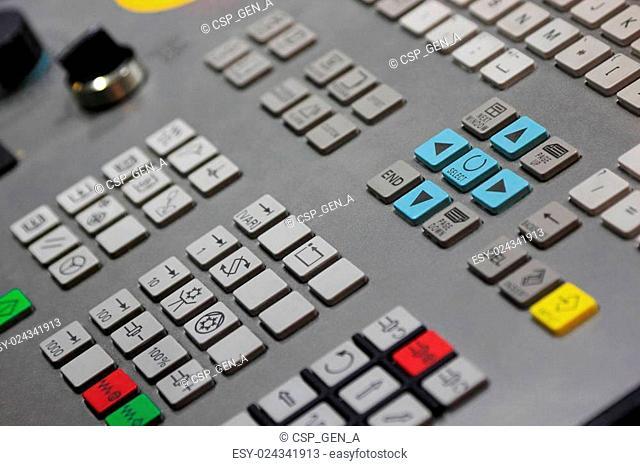 closeup of CNC control panel
