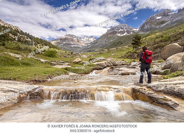 Gorge of Iguer and LLanos de Napazal, Aisa Valley in La Jacetania, Huesca, Spain