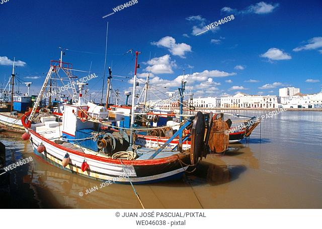 Fishing port, Ayamonte. Huelva province, Andalusia, Spain