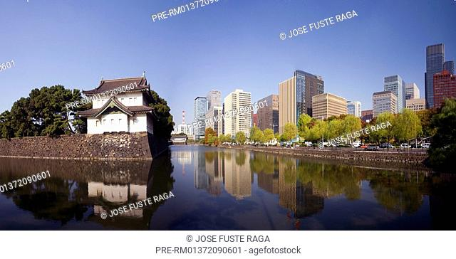 The Imperial Palace in the Marunouchi District, Tokyo city, Japan, Asia