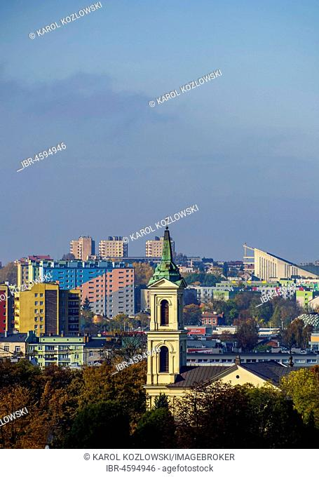 Kielce Cityscape with church, Swietokrzyskie Voivodeship, Poland