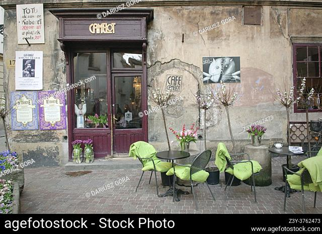 Camelot Cafe in St. Thomas Street, Krakow, Poland