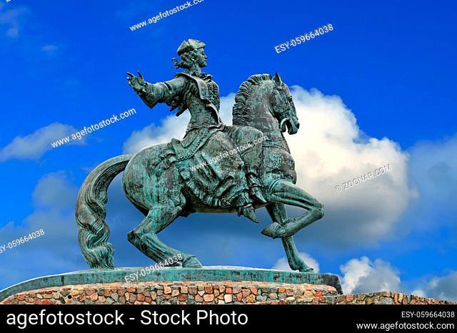 Equestrian Monument Empress Catherine Petrovna. City Baltiysk, formerly Pillau, Kaliningrad Oblast, Russia