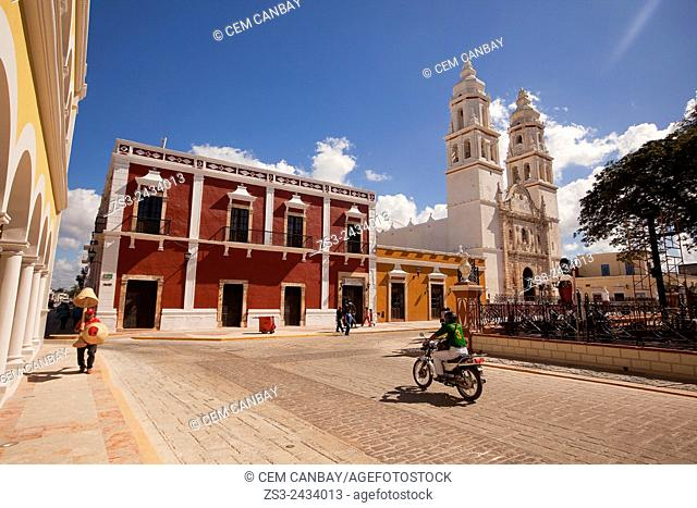 Catedral de Nuestra Senora de la Purisima Concepcion, Cathedral of Campeche at Zocalo in the historical center listed as World Heritage Site by Unesco