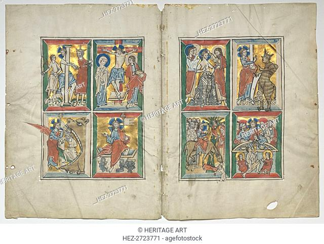 Bifolio with Scenes from the Life of Christ, 1230-1240. Creator: Unknown