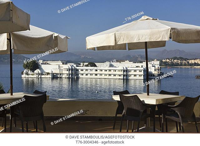The stunning Jag Niwas Lake Palace Hotel on Lake Pichola, Udaipur, Rajasthan, India