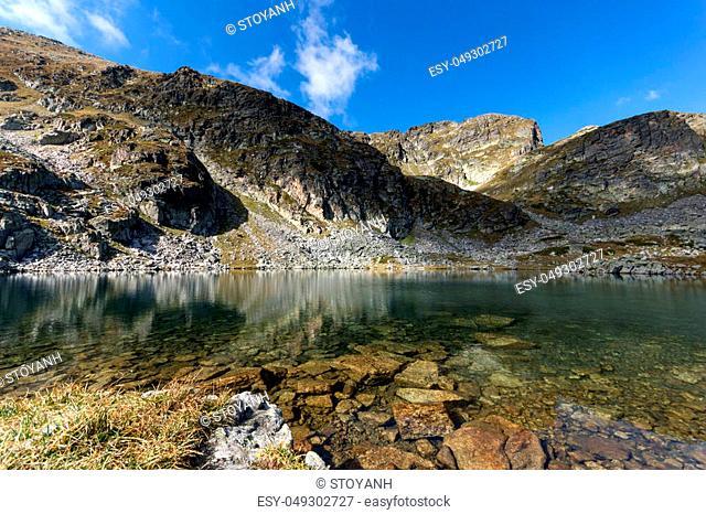 Amazing panorama Elenski lakes and Malyovitsa peak, Rila Mountain, Bulgaria