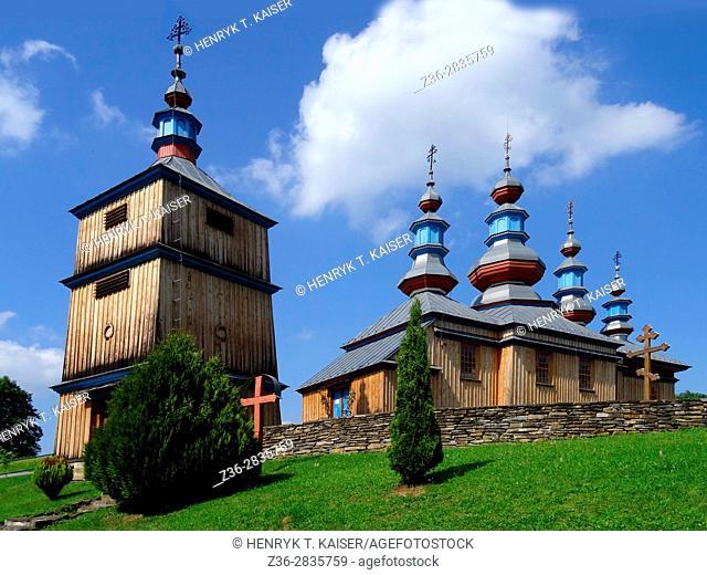 Wooden orhtodox church in Komancza, Poland