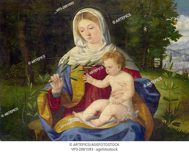 Andrea Previtali . The Virgin and child with a shoot of olive . 1515. National Gallery London