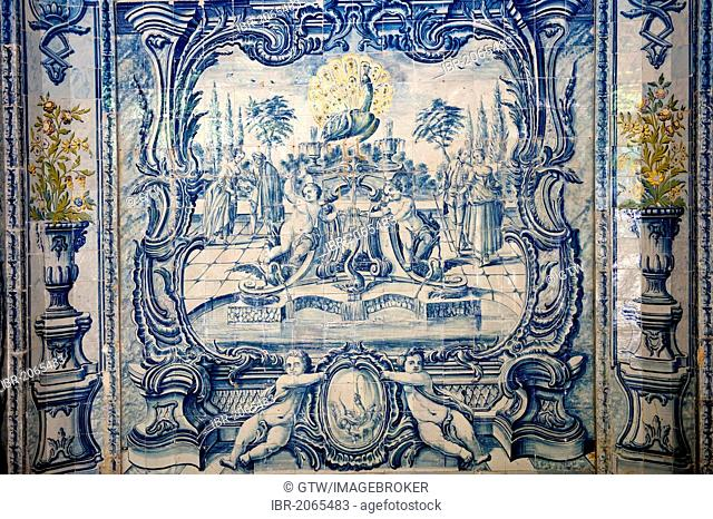 Azulejos, Water Grotto, Sintra National Palace, Sintra, Unesco World Heritage Site, Lisbon, Portugal, Europe