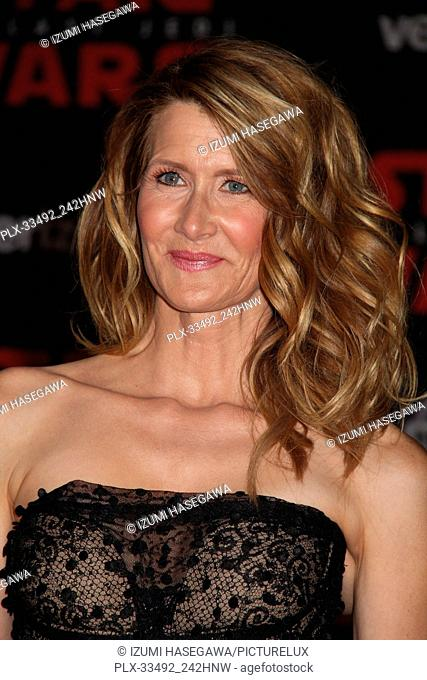 """Laura Dern 12/09/2017 The World Premiere of Lucasfilm's """"""""Star Wars: The Last Jedi"""""""" held at Shrine Auditorium in Los Angeles"""