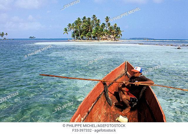 Los Grillos Islands, San Blas archipelago. Panama