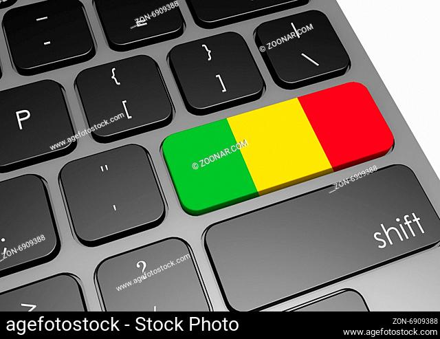 Mali keyboard image with hi-res rendered artwork that could be used for any graphic design
