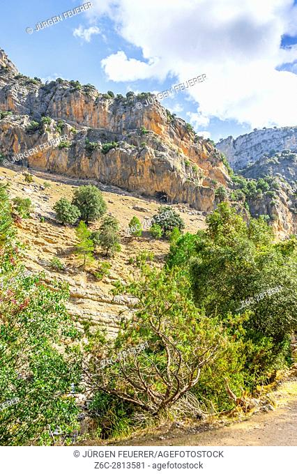 mountains and the river Borosa in the Nature Park Sierra de Cazorla, Andalusia, Spain