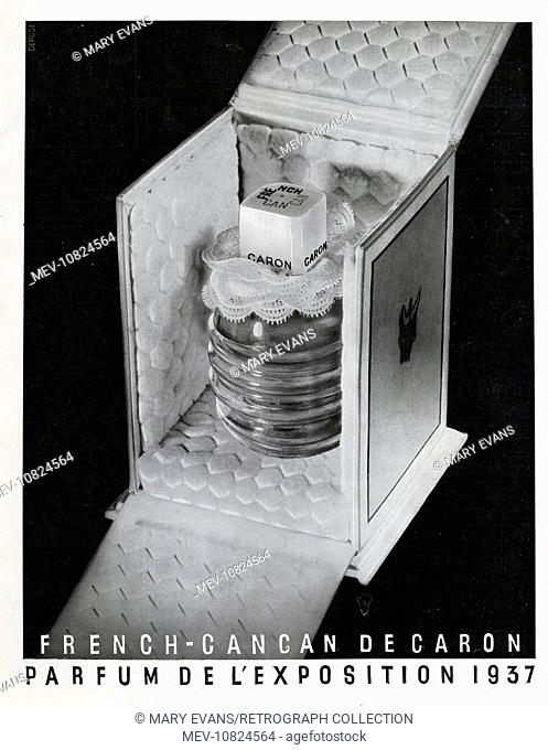 Art Deco Magazine Advertisement for Cancan de Caron perfume