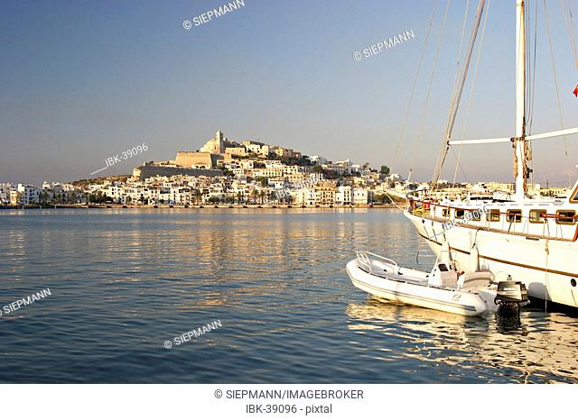 Eivissa with marina in the morning