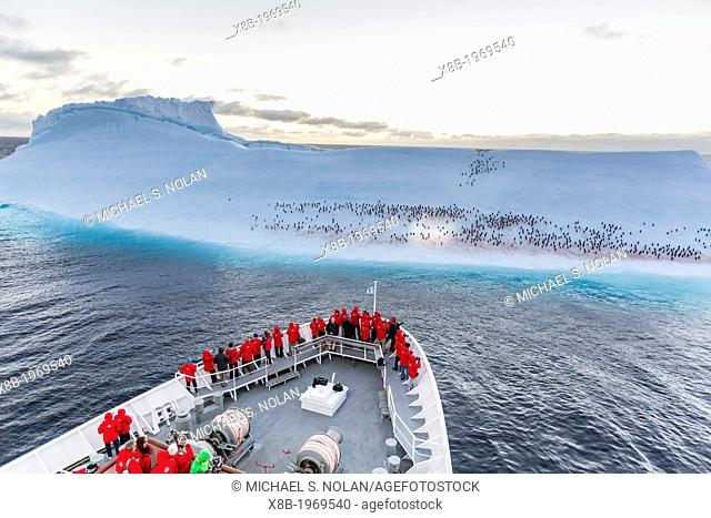 The Lindblad Expedition ship National Geographic Explorer on expedition in the Weddell Sea, Antarctica, Southern Ocean