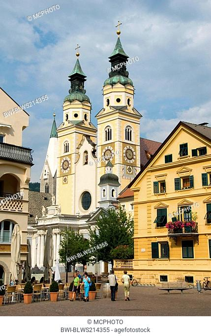 castle place, Piazza Vescovile and cathedral, Italy, Trentino-Suedtirol, Brixen