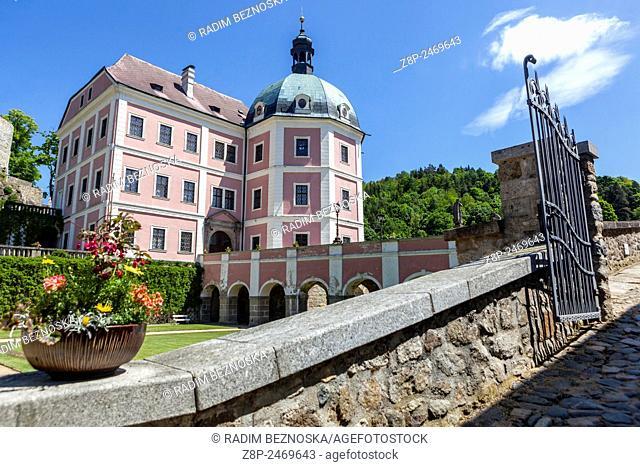 Becov Nad Teplou, baroque and gothic Castle, region Karlovy Vary, Czech Republic
