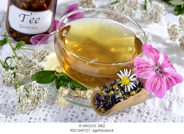 Peppermint, Sweet Weed, Marshmallow leaf, Marshmallow root, Yarrow, Mallow leaf, Mallow, Common Matricaria recutita / (Malva sylvestris), (Achillea millefolium)