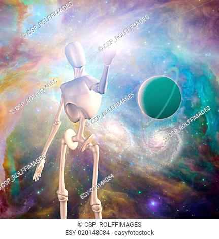 Robot and deep space