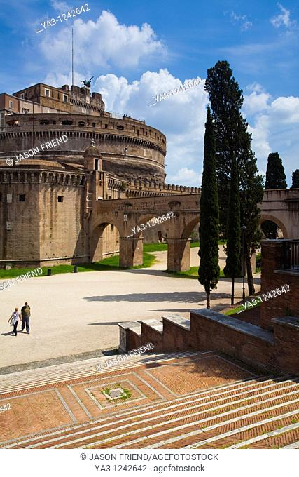Italy, Lazio, Rome  Castel Sant'Angelo also known as 'The Mausoleum of Hadrian'