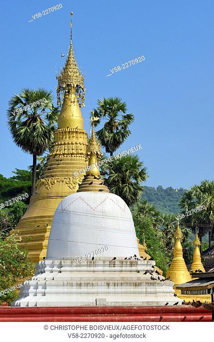 Myanmar, Mon State, Thaton, Thaton pagoda