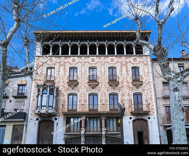 Solà i Morales house, Lluis Domenech i Montaner architect, 1916, Catalan Modernism, Olot, La Garrotxa region, La Garrotxa Natural Park, Girona Province
