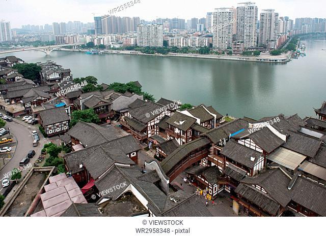 Nanjin street of Hechuan County in Sichuan province, China