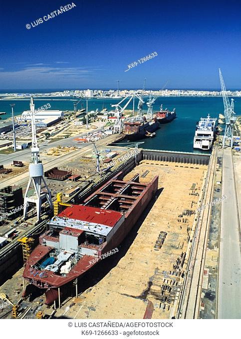 Shipyard  Astlleros Españoles  Cádiz  Spain