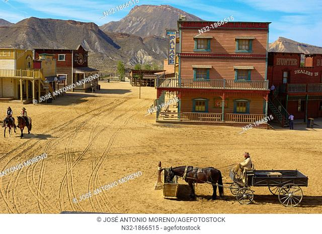 Tabernas, Mini Hollywood Film set , Desert of Tabernas, Almeria Province, Andalusia, Spain