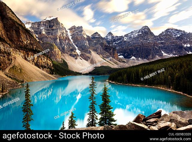 Scenic view, Moraine Lake, Banff National Park, Alberta, Canada